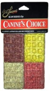 Rawhide Squares Dog Treats 4pk