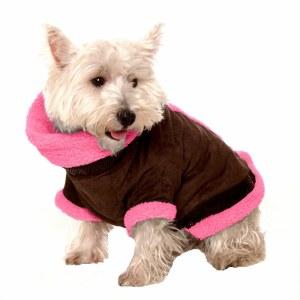 Coat Med Brown-Pink Kumfy Pak