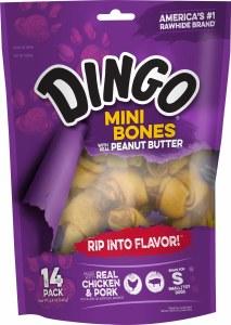 Dingo PButter Mini Bones 14pk
