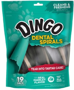 Dingo Dental Spirals 19Ct