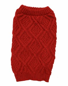 Fisherman Sweater Red X-Small