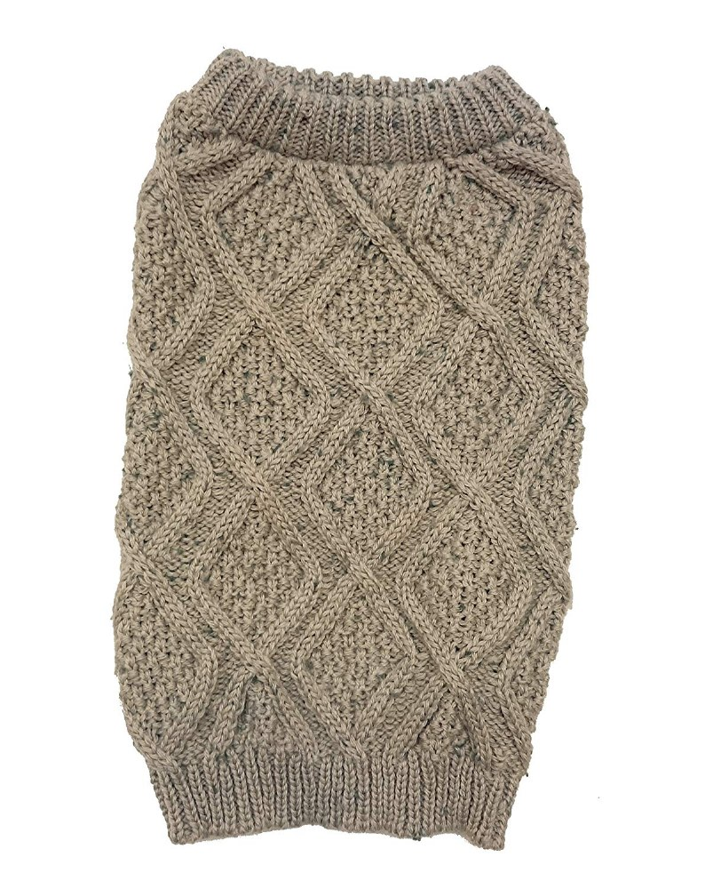 Fisherman Taupe Sweater Small