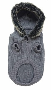 Gray Hooded Sweater XSmall