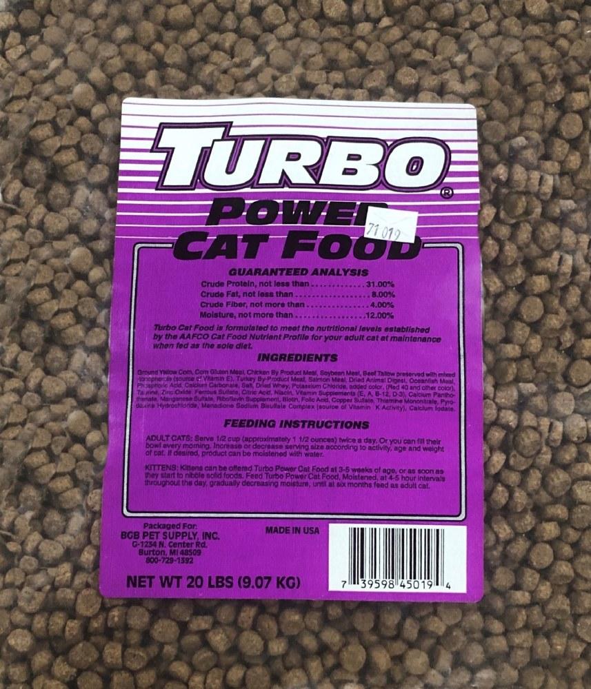 Turbo Power Cat Food 20lb