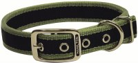1x22 MossGrn 3Stripe Collar