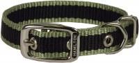 5/8x14 Moss Grn 3Stripe Collar