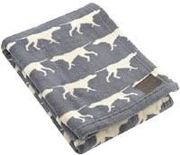 Charcoal Icon Blanket 30x40