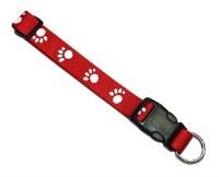 Red Paw Print Collar 1140-Rd