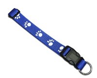 Blue Paw Print Collar 1140-BL