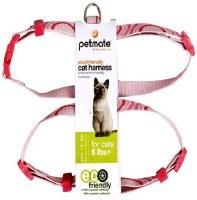 Cat Harness 8-16 Circles Pink