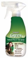 Green Flea n Tick Dog Spray 8z