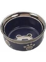 Copper Rim Dog Bowl Purple5In