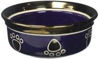 Copper Rim Dog Bowl Purple7In