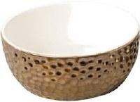 Gold Vesuvius Bowl 7In
