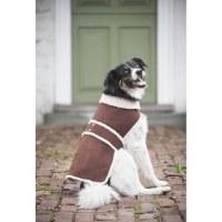 Shearling Coat Brown Large