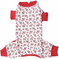 Candy Cane Dog Pajamas Med