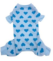 Blue Heart Dog Pajama Small