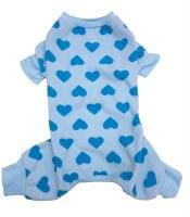 Blue Heart Dog Pajama Large