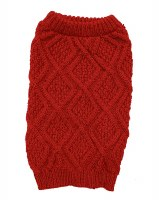 Fisherman Sweater Red Small