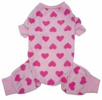 Pink Heart Dog Pajama Large