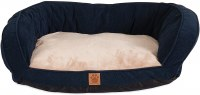 ChevronGusset Couch Navy 35x27