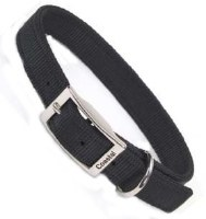 Dbl Stitch Nylon Collar Black