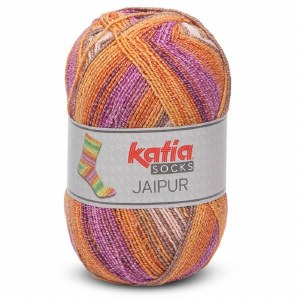 Jaipur Sock - Copper/Coffee/Violet