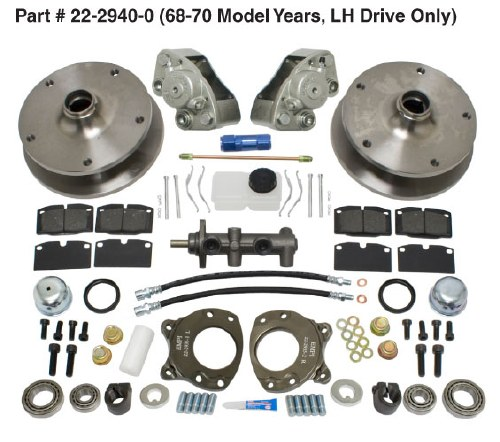 Disc Brake Kit Bus 68-70
