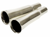 Chrome Flared Exhaust Tips
