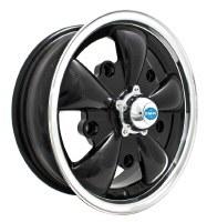 GT-5 Wheel Black/Polished Lip 5/205 (EP00-9690)