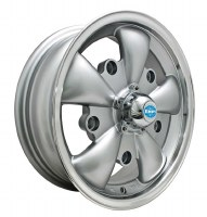GT-5 Wheel Silver/Polished Lip 5/205 (EP00-9691)