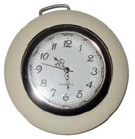 Horn Button - Ivory With Clock