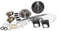 Rear Disc Kit T1 73-79 W/Ebrk DELUXE Dual Drilled