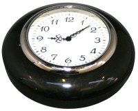 Horn Button - Black With Clock