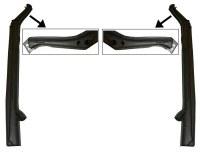 Super Beetle Heater Channel Set LH & RH Deluxe (951300-1-2-DK)