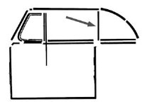Quarter Window Uprights 52-79