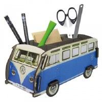 Pencil Holder - Blue Bus