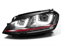 MK7 Double-U Headlights RED
