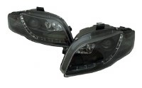 A4 B7 Devil Eye Headlights BLK
