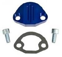 Fuel Pump Block Off Blue