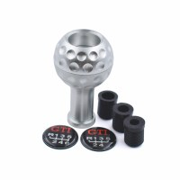 Shift Knob Aluminum Golf Ball Silver