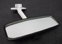 Mirror - Rear View T1 68-79 BLK/WHT QUALITY