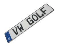 """Europlate EEC """" VW GOLF """""""