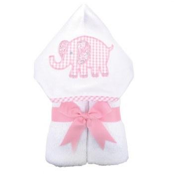 3 Marthas - Hooded Towel - Pink Elephant