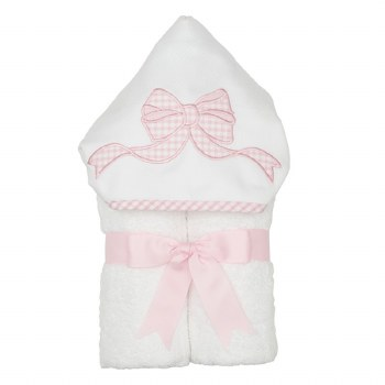 3 Marthas - Hooded Towel - Pink Bow