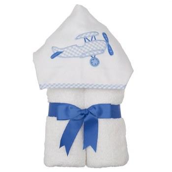 3 Marthas - Hooded Towel - Blue Plane