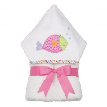 3 Marthas - Hooded Towel - Fish Pink
