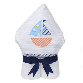 3 Marthas - Hooded Towel - Blue Anchors