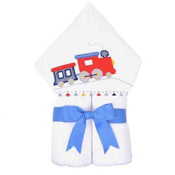 3 Marthas - Hooded Towel - Choo Choo Train