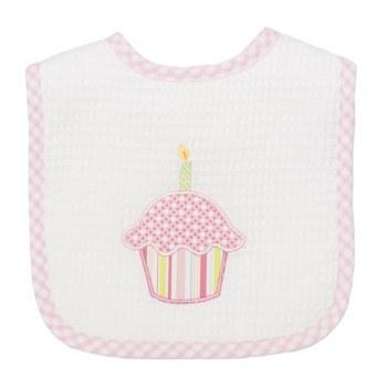3 Marthas - Feeding Bib -  Cupcake Birthday Pink